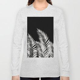 Palm Leaves White Long Sleeve T-shirt