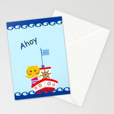 Greek Cat on Sail Stationery Cards