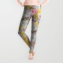 Natural Beauty Botanic Floral Print #society6 #floral #homedecor Leggings