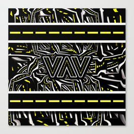 The Fractal Roads of Vans and Villains in VanLife Canvas Print
