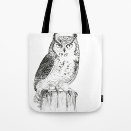 My great horned owl: Nuit Tote Bag