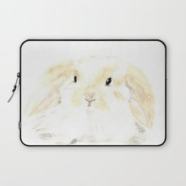 Soft Watercolor Bunny Laptop Sleeve