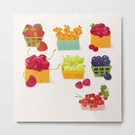 Fruits Market Metal Print