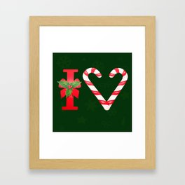 I Love Christmas Framed Art Print