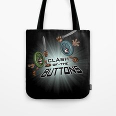 Clash of the BUTTONS! Tote Bag