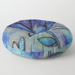Abstract - Lotus flower - Intuitive Floor Pillow