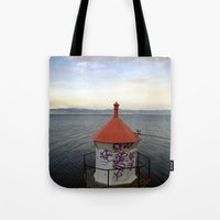 lighthouse Tote Bags featuring lighthouse. by zenitt