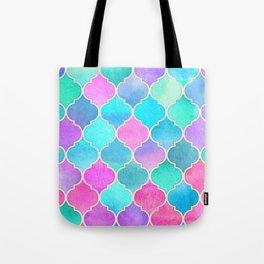 Bright Moroccan Morning - pretty pastel color pattern Tote Bag