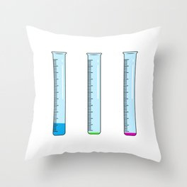 Funny Chemistry Teacher Pun Material Scientist Throw Pillow