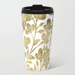 Cherry Blossoms – Gold Palette Travel Mug