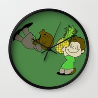 psych Wall Clocks featuring Psych! (Green Version) by AriesNamarie