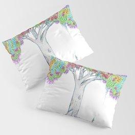Rainbow Tree Huia Art Pillow Sham