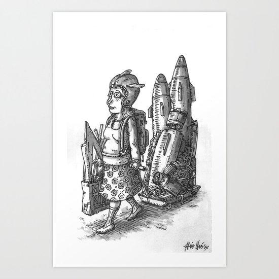 Shopping Day Art Print
