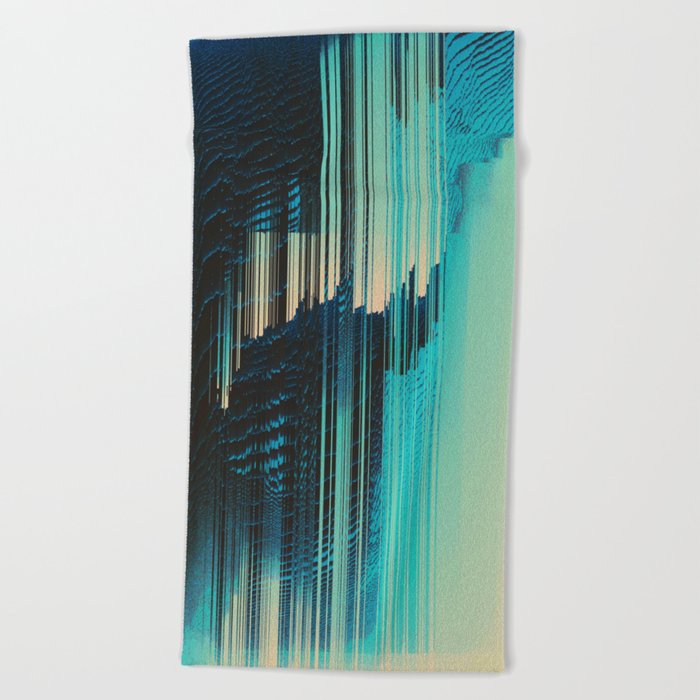 Rain on the Window Beach Towel