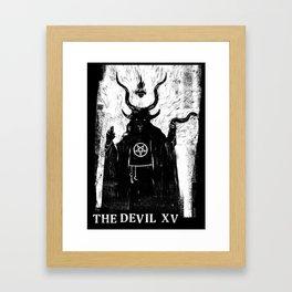 Tarot Card: The Devil XV Framed Art Print