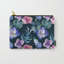 Hydrangea pattern Carry-All Pouch