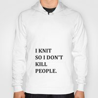 knit Hoodies featuring I KNIT. by Miklos