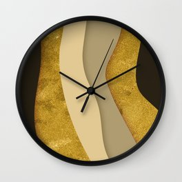 Gold Ribbons Wall Clock