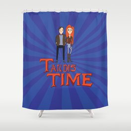 Tardis Time Shower Curtain