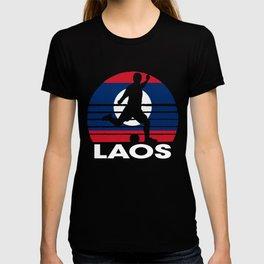 Laos Soccer Football LAO T-shirt