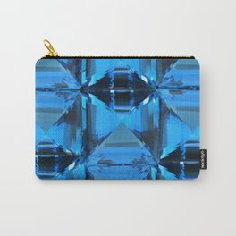 BLUE CRYSTAL GEMS PATTERN Carry-All Pouch