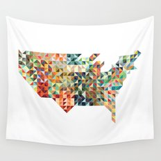 Geometric United States Wall Tapestry
