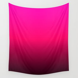 Hot Pink Red Ombre Wall Tapestry