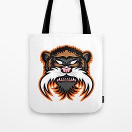 Emperor Tamarin Monkey Mascot Tote Bag
