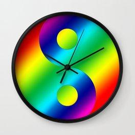 Rainbow Yin a Yang Wall Clock