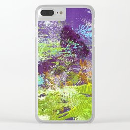 Heron Abstract Painting Clear iPhone Case