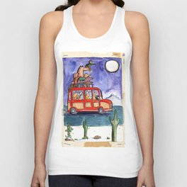 Dogs on Vacation: Unisex Tank Top