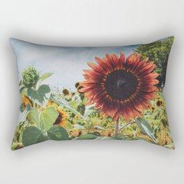 Red Sun (flower) Rectangular Pillow
