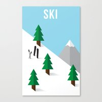 ski Canvas Prints featuring Ski by Andrew Spencer