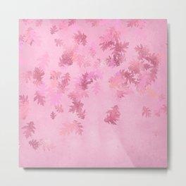 Pink Maple Leaves Metal Print