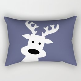Reindeer on blue background Rectangular Pillow