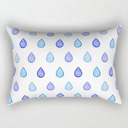 Blue raindrops Rectangular Pillow
