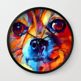 Chihuahua Watercolor Wall Clock