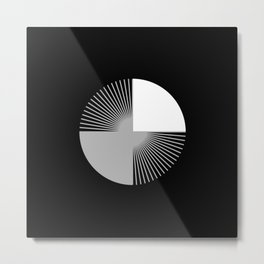 Abstraction 028 - Minimal Geometric Triangle Metal Print