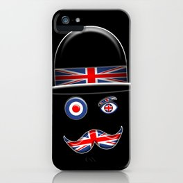 British Flag Face. iPhone Case