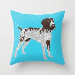 German Wire Hair Pointer Dog Throw Pillow