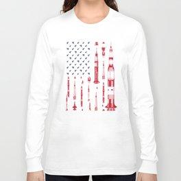 Patriotic Spacecraft Long Sleeve T-shirt