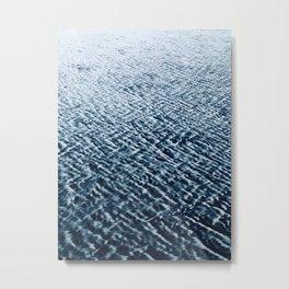Sand Patterns, blue Metal Print
