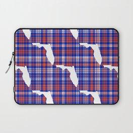 Florida university gators orange and blue college sports football plaid pattern Laptop Sleeve