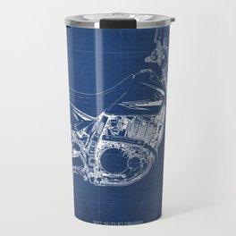 2012 Suzuki DR650SE, motorcycle blueprint, gift for biker Travel Mug
