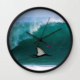 Shark-Filled Heart Wall Clock