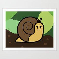 Cutesy Crawlies — Snail Art Print