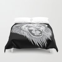 leo Duvet Covers featuring leo by Taranta Babu