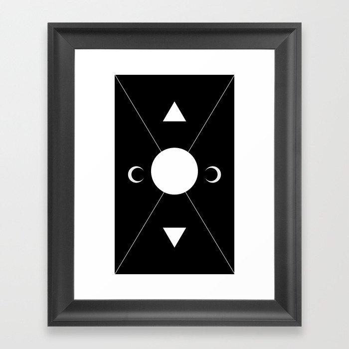 minimalist tarot deck Framed Art Print