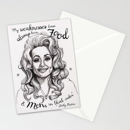 Pen & Marker Drawing of Dolly Parton Stationery Cards
