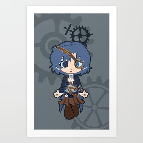 Steampunk Sailor Mercury Art Print